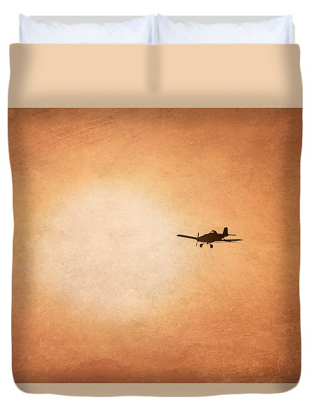 Early Morning Flight Duvet Cover