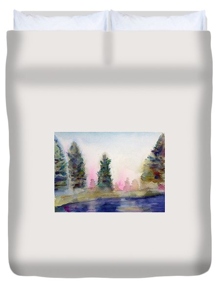 Early Morning Forest Duvet Cover