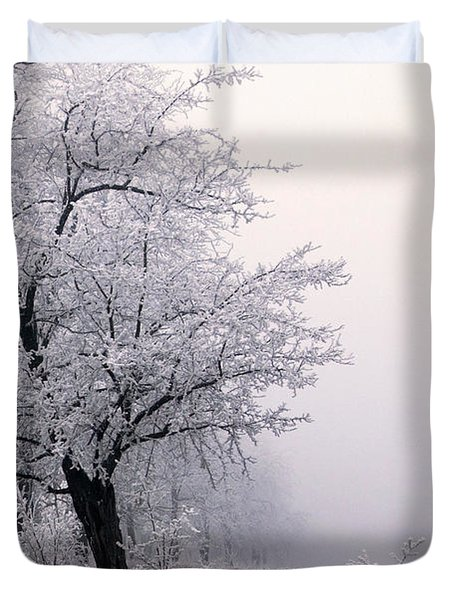 Early Morning Frost  Duvet Cover