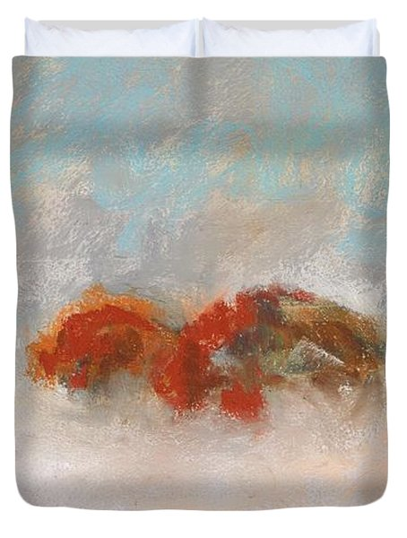 Early Morning Herd Duvet Cover by Frances Marino