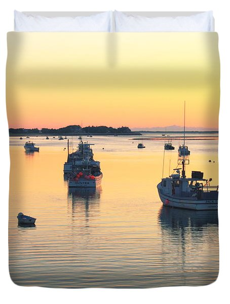 Duvet Cover featuring the photograph Early Morning In Chatham Harbor by Roupen  Baker