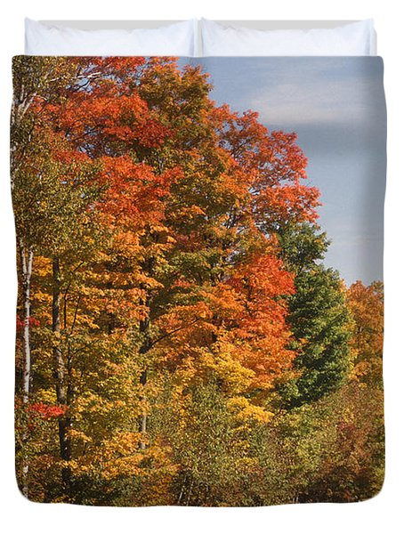 Early Morning In Door County Duvet Cover by Sandra Bronstein