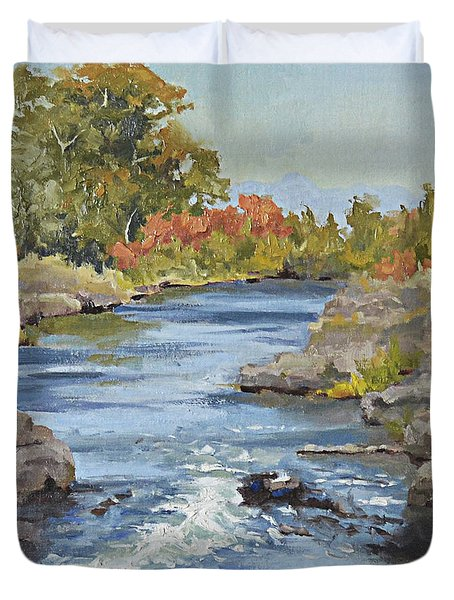 Early Morning In Idaho Duvet Cover
