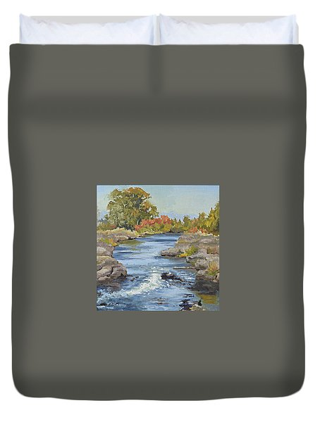 Early Morning In Idaho Duvet Cover