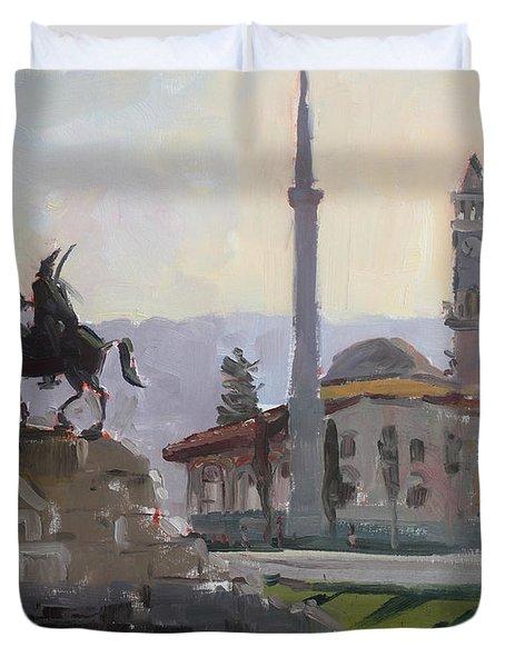 Early Morning In Tirana Duvet Cover