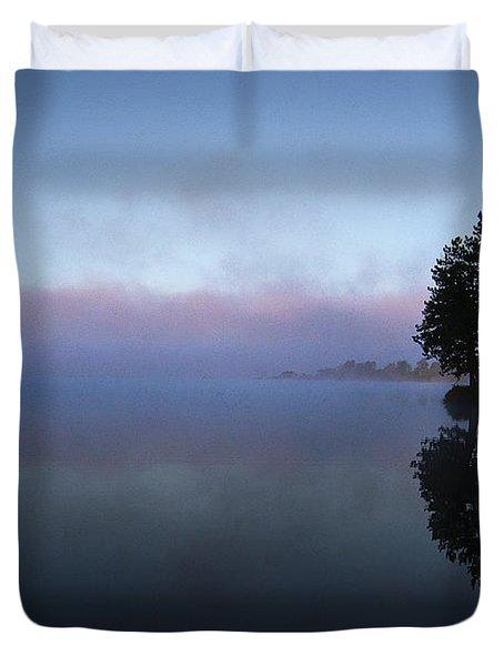 Early Morning Lake Nimisila Duvet Cover