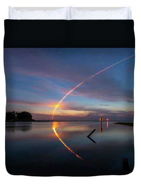 Early Morning Launch Duvet Cover