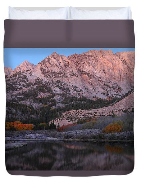 Early Morning Light At North Lake In The Eastern Sierras During Autumn Duvet Cover by Jetson Nguyen