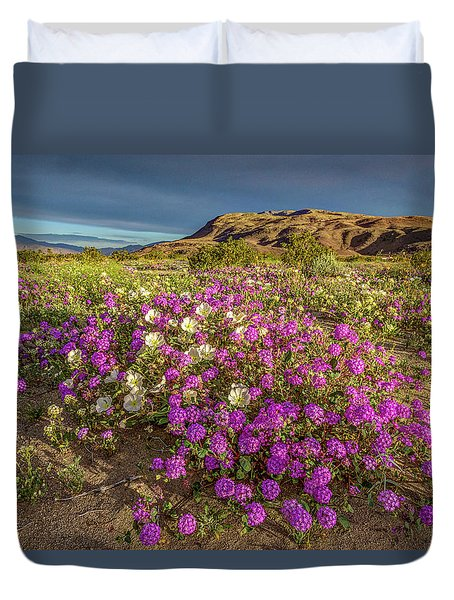 Early Morning Light Super Bloom Duvet Cover by Peter Tellone