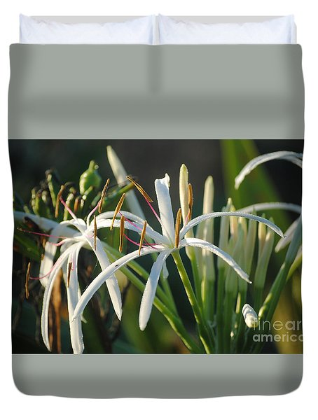 Early Morning Lily Duvet Cover