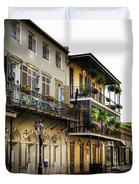 Early Morning On Dumaine Street Duvet Cover