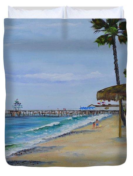 Early Morning On The Beach Duvet Cover