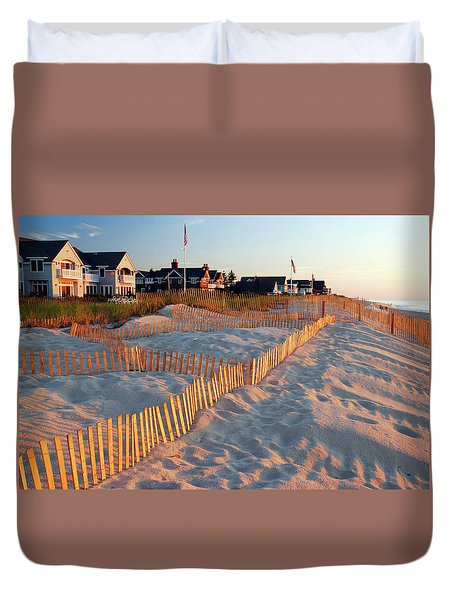 Early Morning On The Shore Duvet Cover