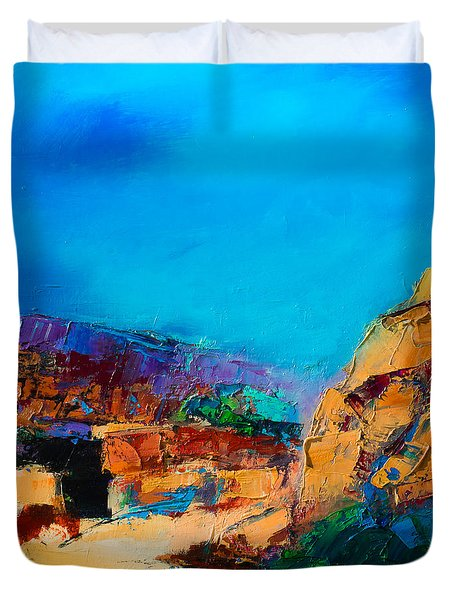 Early Morning Over The Canyon Duvet Cover