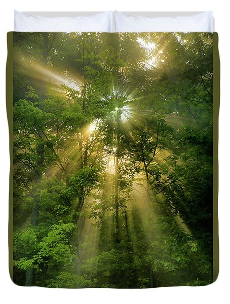 Early Morning Peace Duvet Cover by Christina Rollo