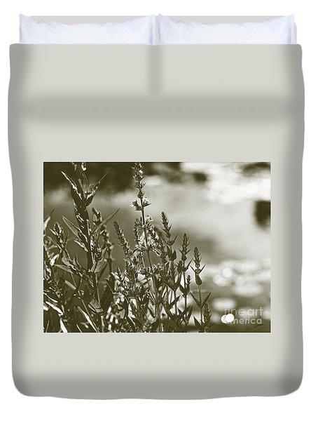 Duvet Cover featuring the photograph Early Morning Reflections by Lance Sheridan-Peel
