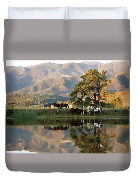 Early Morning Rendezvous Duvet Cover by Nadja Rider