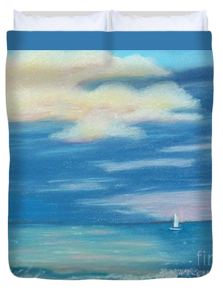 Duvet Cover featuring the painting Early Morning Sailing by Terri Mills