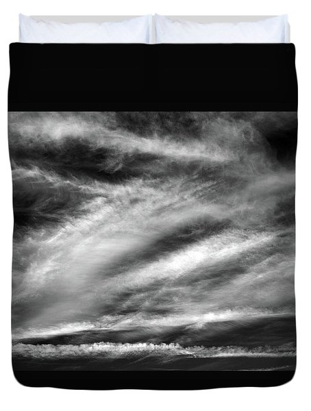 Duvet Cover featuring the photograph Early Morning Sky. by Terence Davis