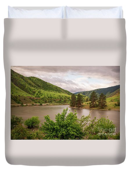 Early Morning Smoothy Waterscape Art By Kaylyn Franks  Duvet Cover