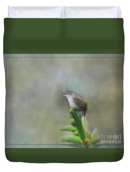 Early Morning Songbird Duvet Cover by Brenda Bostic