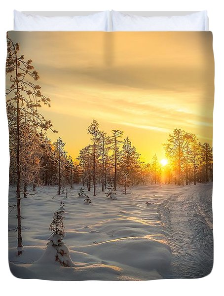 Early Morning Sun Duvet Cover by Rose-Maries Pictures