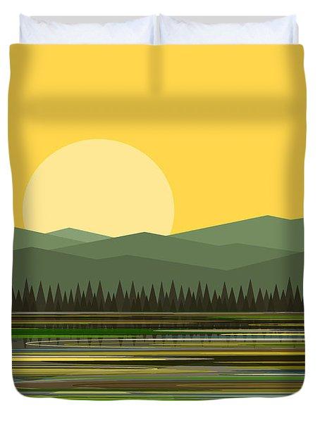 Early Morning Sun Duvet Cover