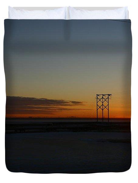 Early Morning Sunrise Duvet Cover by Anthony Jones