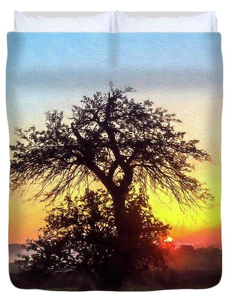 Early Morning Sunrise Duvet Cover