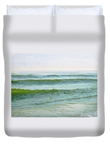 Early Morning Waves Duvet Cover