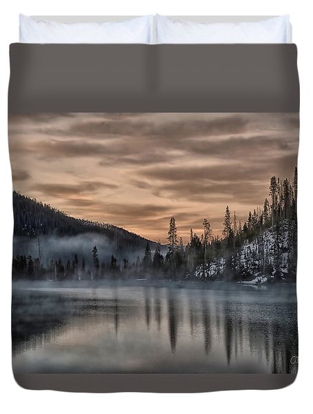 Early Morning Yellowstone Duvet Cover