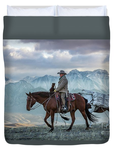 Early October Hunt Wild West Photography Art By Kaylyn Franks Duvet Cover