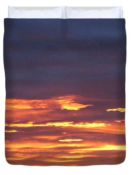 Early Prairie Sunrise Duvet Cover