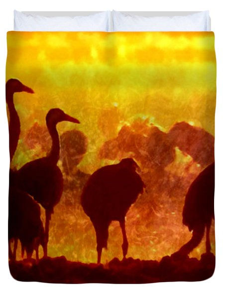 Early Risers  Duvet Cover by Tlynn Brentnall