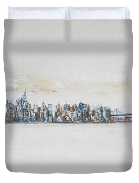Early Skyline Duvet Cover