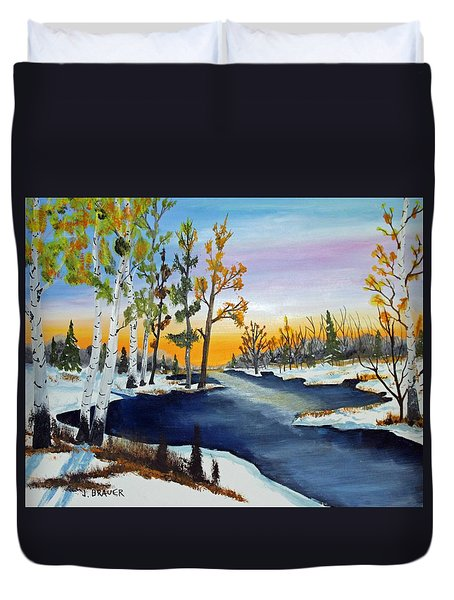 Early Snow Fall Duvet Cover