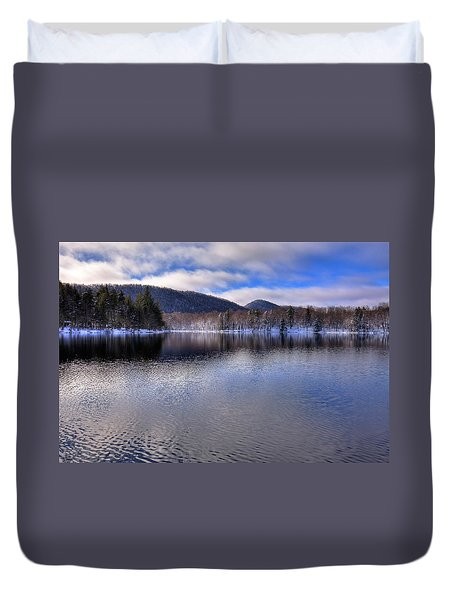 Early Snow On West Lake Duvet Cover