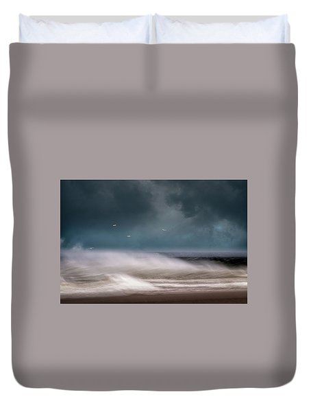 Early Spring At Nauset Beach Duvet Cover