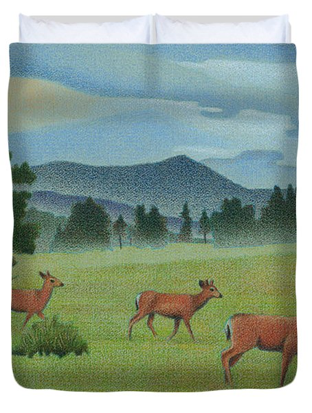 Early Spring Evergreen Duvet Cover