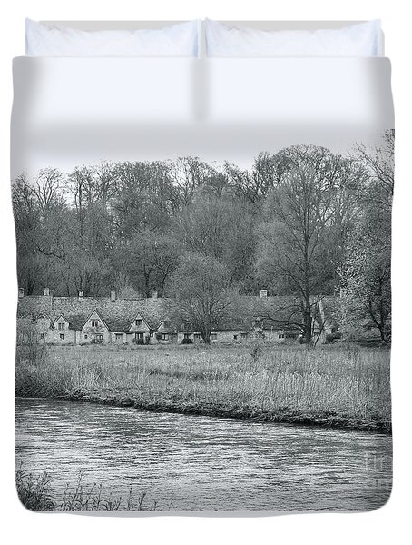 Early Spring In England Black And White Duvet Cover