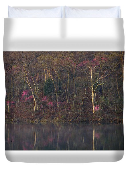 Early Spring Lake Shore Duvet Cover