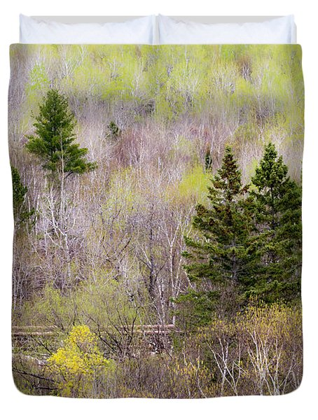 Duvet Cover featuring the photograph Early Spring Palette by Mary Amerman
