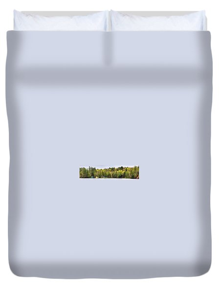 Early Spring Panorama Duvet Cover by David Patterson