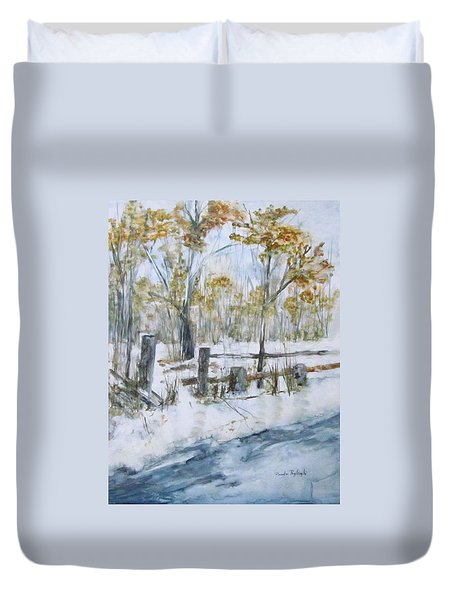 Early Spring Snow Duvet Cover