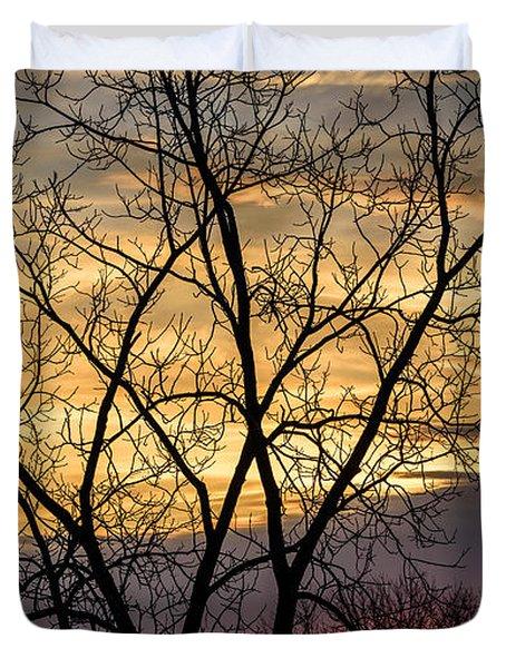 Early Spring Sunrise Duvet Cover