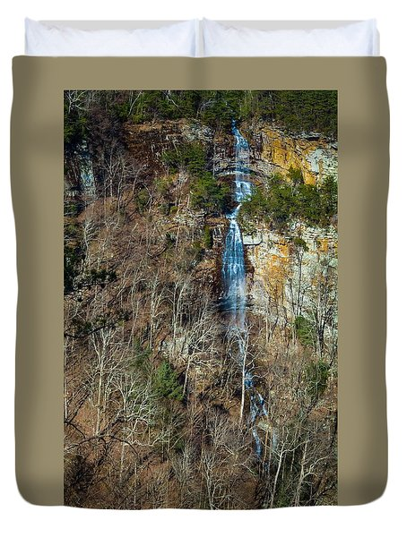 Early  Spring Waterfall  Duvet Cover