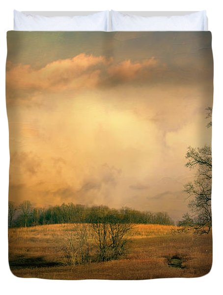 Early Spring Storm Duvet Cover