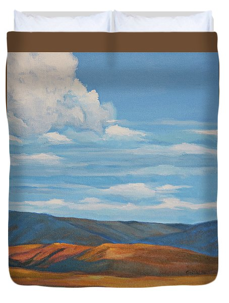 Early Summer Blue Hills Duvet Cover