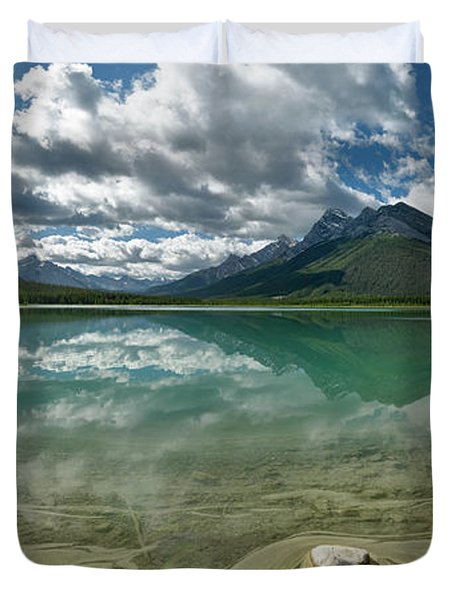 Early Summer Day On Goat Pond Duvet Cover