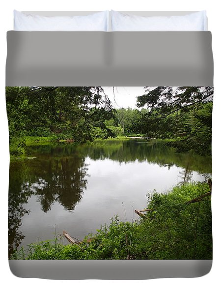 Early Summer In Nh Duvet Cover by Lois Lepisto